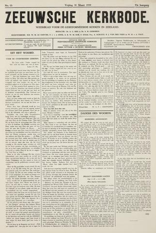 Zeeuwsche kerkbode, weekblad gewijd aan de belangen der gereformeerde kerken/ Zeeuwsch kerkblad 1939-03-31