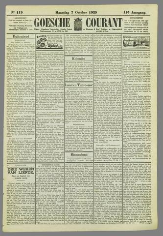 Goessche Courant 1929-10-07