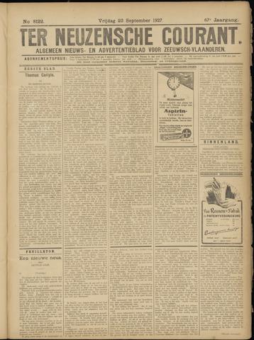 Ter Neuzensche Courant. Algemeen Nieuws- en Advertentieblad voor Zeeuwsch-Vlaanderen / Neuzensche Courant ... (idem) / (Algemeen) nieuws en advertentieblad voor Zeeuwsch-Vlaanderen 1927-09-23