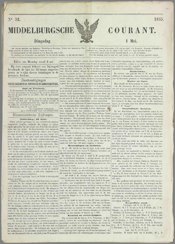 Middelburgsche Courant 1855-05-01