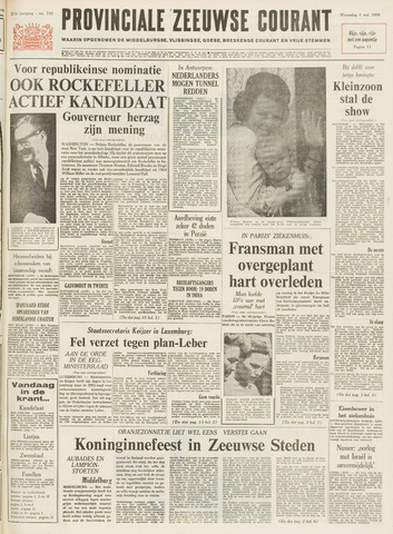 Provinciale Zeeuwse Courant 1968-05-01