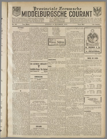 Middelburgsche Courant 1932-11-29