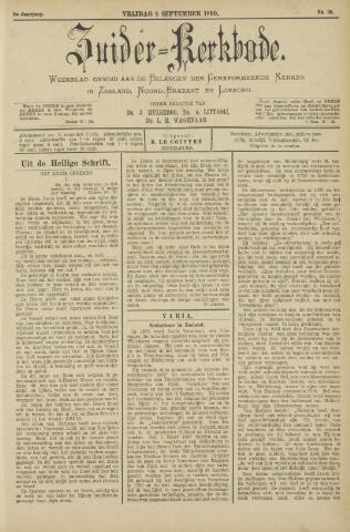 Zuider Kerkbode, Weekblad gewijd aan de belangen der gereformeerde kerken in Zeeland, Noord-Brabant en Limburg. 1899-09-08