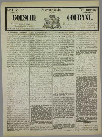 Goessche Courant 1884-07-05