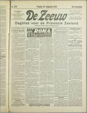 De Zeeuw. Christelijk-historisch nieuwsblad voor Zeeland 1930-08-29