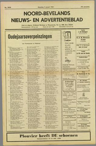 Noord-Bevelands Nieuws- en advertentieblad 1961
