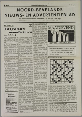 Noord-Bevelands Nieuws- en advertentieblad 1984-08-30