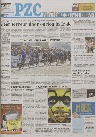 Provinciale Zeeuwse Courant 2006-09-25