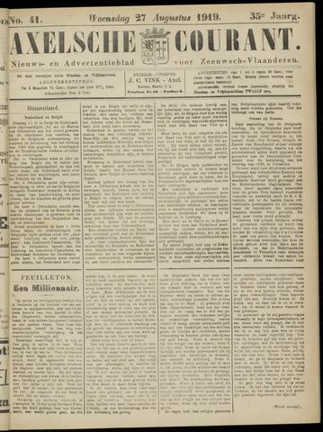 Axelsche Courant 1919-08-27