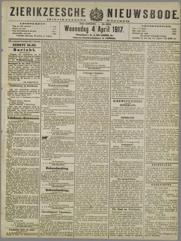 Zierikzeesche Nieuwsbode 1917-04-04