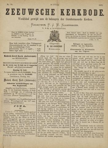 Zeeuwsche kerkbode, weekblad gewijd aan de belangen der gereformeerde kerken/ Zeeuwsch kerkblad 1887-07-30
