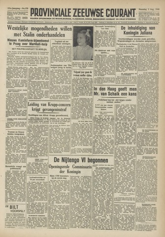 Provinciale Zeeuwse Courant 1948-08-02