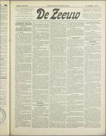 De Zeeuw. Christelijk-historisch nieuwsblad voor Zeeland 1934-06-19