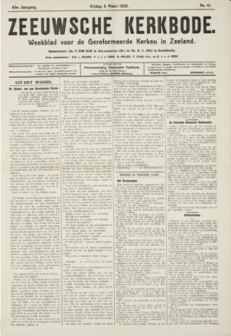 Zeeuwsche kerkbode, weekblad gewijd aan de belangen der gereformeerde kerken/ Zeeuwsch kerkblad 1929-03-08