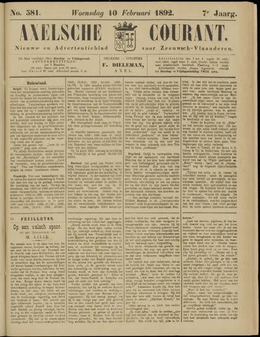 Axelsche Courant 1892-02-10