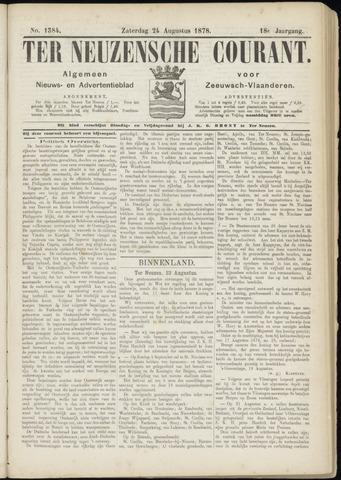 Ter Neuzensche Courant. Algemeen Nieuws- en Advertentieblad voor Zeeuwsch-Vlaanderen / Neuzensche Courant ... (idem) / (Algemeen) nieuws en advertentieblad voor Zeeuwsch-Vlaanderen 1878-08-24