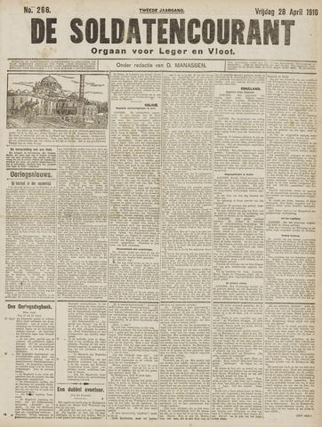 De Soldatencourant. Orgaan voor Leger en Vloot 1916-04-28