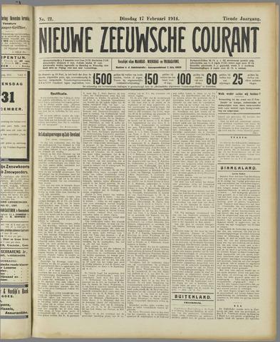 Nieuwe Zeeuwsche Courant 1914-02-17