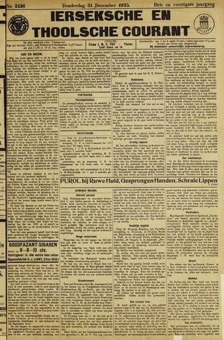 Ierseksche en Thoolsche Courant 1925-12-31