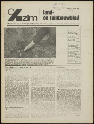 Zeeuwsch landbouwblad ... ZLM land- en tuinbouwblad 1973-04-13