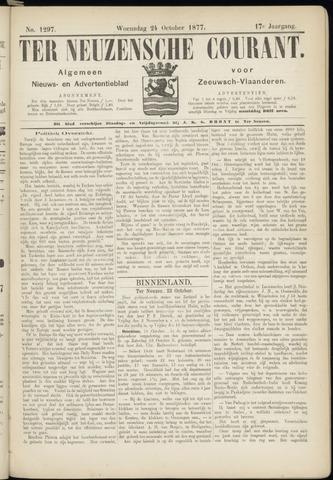Ter Neuzensche Courant. Algemeen Nieuws- en Advertentieblad voor Zeeuwsch-Vlaanderen / Neuzensche Courant ... (idem) / (Algemeen) nieuws en advertentieblad voor Zeeuwsch-Vlaanderen 1877-10-24