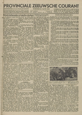 Provinciale Zeeuwse Courant 1943-06-09