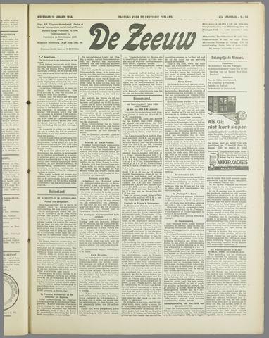 De Zeeuw. Christelijk-historisch nieuwsblad voor Zeeland 1934-01-10