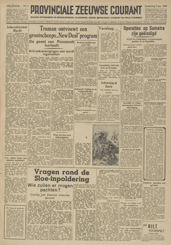Provinciale Zeeuwse Courant 1949-01-06
