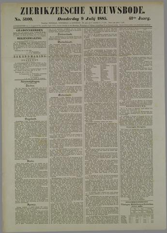 Zierikzeesche Nieuwsbode 1885-07-09