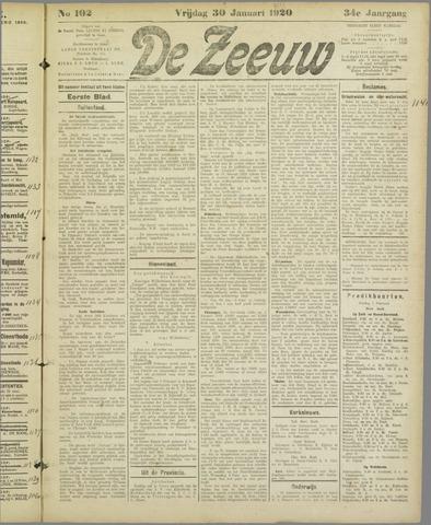 De Zeeuw. Christelijk-historisch nieuwsblad voor Zeeland 1920-01-30