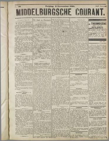 Middelburgsche Courant 1922-11-03
