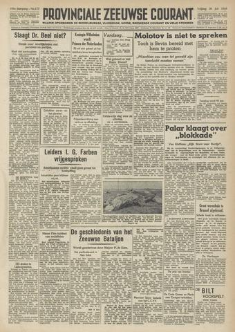 Provinciale Zeeuwse Courant 1948-07-30