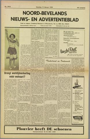 Noord-Bevelands Nieuws- en advertentieblad 1959-02-14