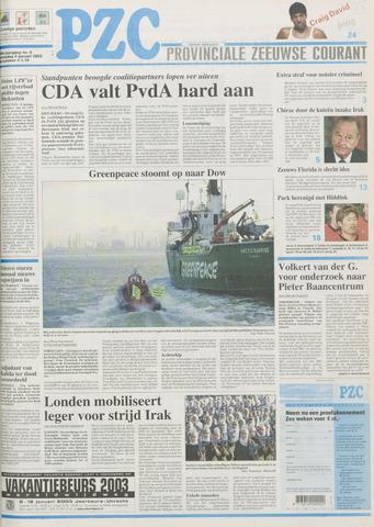 Provinciale Zeeuwse Courant 2003-01-08