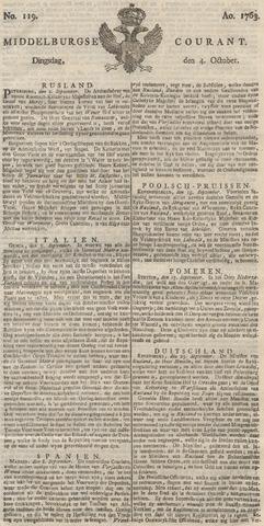 Middelburgsche Courant 1763-10-04