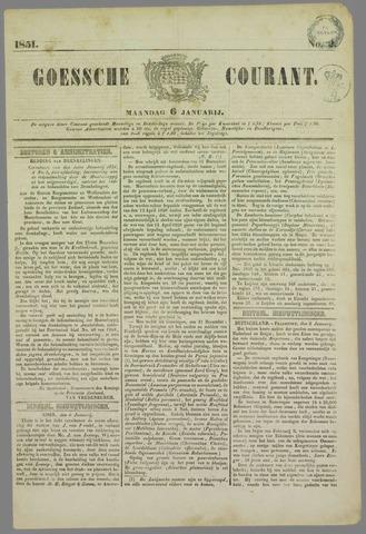 Goessche Courant 1851-01-06