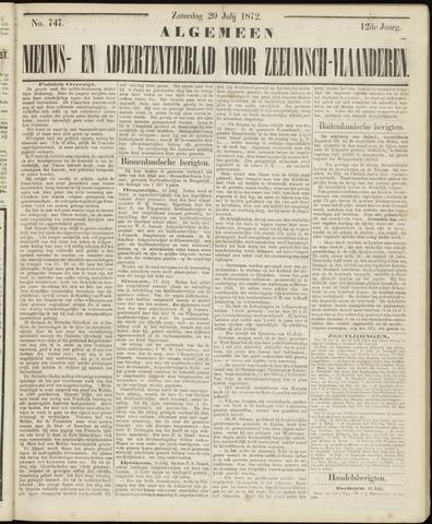Ter Neuzensche Courant. Algemeen Nieuws- en Advertentieblad voor Zeeuwsch-Vlaanderen / Neuzensche Courant ... (idem) / (Algemeen) nieuws en advertentieblad voor Zeeuwsch-Vlaanderen 1872-07-20