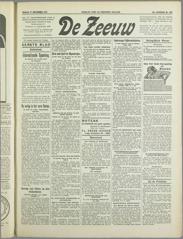 De Zeeuw. Christelijk-historisch nieuwsblad voor Zeeland 1937-09-17