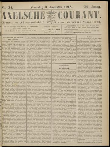 Axelsche Courant 1918-08-03
