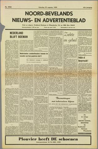 Noord-Bevelands Nieuws- en advertentieblad 1959-08-22
