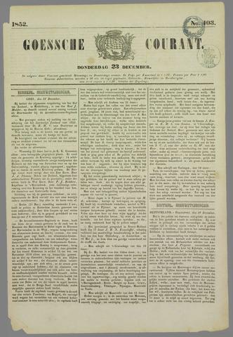 Goessche Courant 1852-12-23