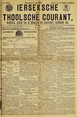 Ierseksche en Thoolsche Courant 1905-07-08