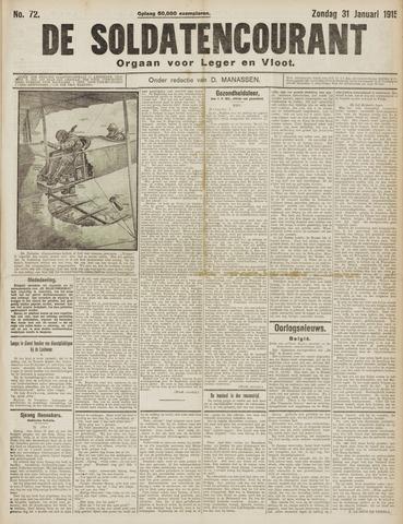 De Soldatencourant. Orgaan voor Leger en Vloot 1915-01-31