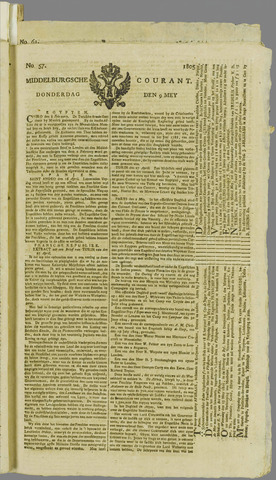 Middelburgsche Courant 1805-05-09
