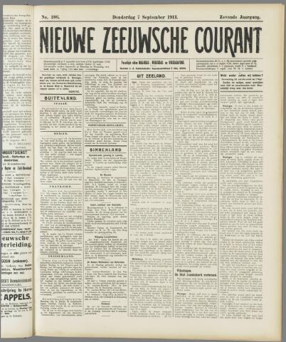 Nieuwe Zeeuwsche Courant 1911-09-07