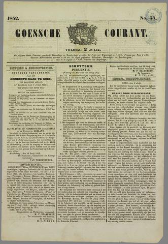 Goessche Courant 1852-07-02