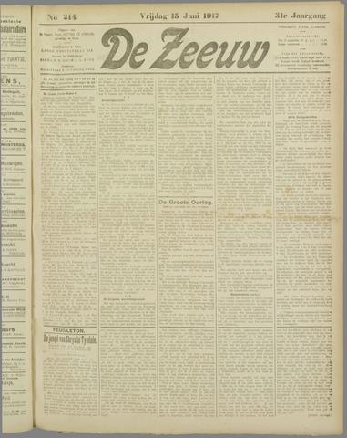 De Zeeuw. Christelijk-historisch nieuwsblad voor Zeeland 1917-06-15