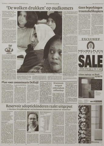 Watersnood documentatie 1953 - kranten 2003-02-01