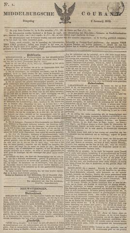 Middelburgsche Courant 1832-01-03
