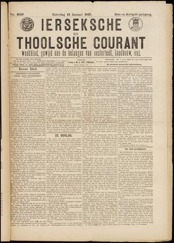 Ierseksche en Thoolsche Courant 1917-01-13